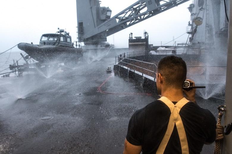 USS Ashland Conducts INSURV Rehearsal Underway