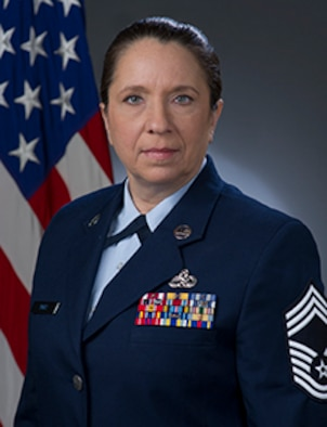 Chief Master Sgt. Kimberly L. Reay, official photo, U.S. Air Force