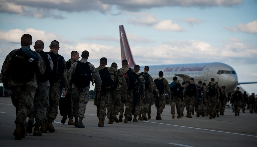 U.S. Airmen assigned to the 77th Fighter Squadron deployed to an undisclosed location in Southwest Asia in support of Operation Freedom's Sentinel.