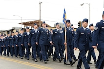 Members of the 316th Training Squadron march in formation in San Angelo's Veteran's Day Parade Nov. 11, 2017, San Angelo, Texas.