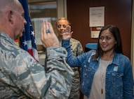 Newest recruit for the 932nd Airlift wing at Scott Air Force Base keeps family heritage going.