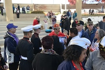 Thomas Begay, Iwo Jima veteran and Navajo Code Talker, was one of several hundred to attend the Veterans Day Ceremony Nov. 11 at the New Mexico Veterans Memorial. Past, present and future veterans were honored during the ceremony.