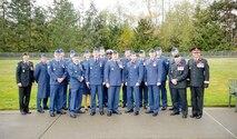 Members of the WADS Canadian Detachment gather after the Veterans Day program at the Tahoma National Cemetery.  First Row (R-L)  -  Brig. Gen. Michel-Henri St-Louis (I Corps deputy commanding general-operations), Maj. Scott LeBlanc, Maj. Michael Wiseman, Capt. Ken Mui, Lt. Col. Matthew Wappler (WADS Canadian Detachment commander), Warrant Officer Gilles Turgeon, Capt. Jordon Harpe, Master Cpl. Jason Rowsell, Maj. Marcelo Plada, Capt. Julie.  Second Row (R-L) – Capt. Mark Hynes, Master Cpl. Ken Thomson, Capt. Patrick Morris, Capt. Todd Rose, Master Seaman Malisa Ogunniya, Sgt. Don Ellery, Capt. Barb Steele, Capt. Victor Choi and Sgt. David Bilodeau.
