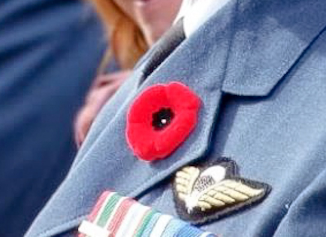 The red poppy is a flower worn by Canadians as a remembrance symbol of the men and women who have served, and continue to serve their country during times of war.