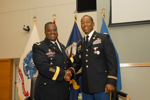 Lt. Col. Robert Glenn III retires from the Army.