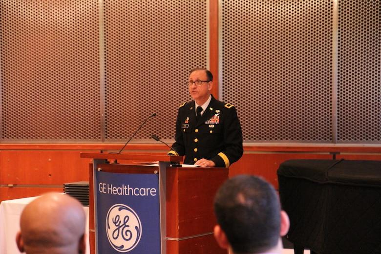 Maj. Gen. Dire, 807th MCDS Commander speaks at GE Military Externship Graduation