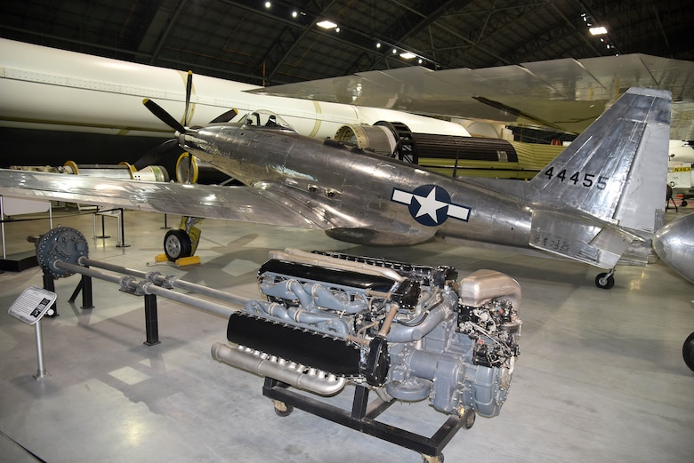 Photo of the Fisher P-75A on display in the R&D Gallery at the National Museum of the U.S. Air Force.