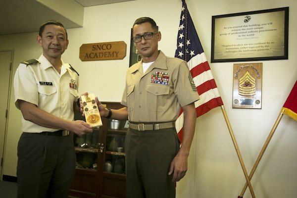 USMC, JGSDF senior enlisted spread knowledge