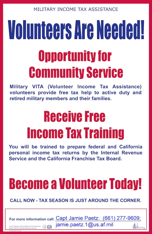 Wanted: Volunteer income tax preparers