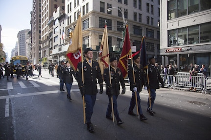 US Army Reserve Marches in NYC Vet's Day Parade