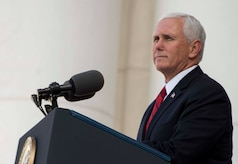 The vice president speaks at a Veterans Day ceremony