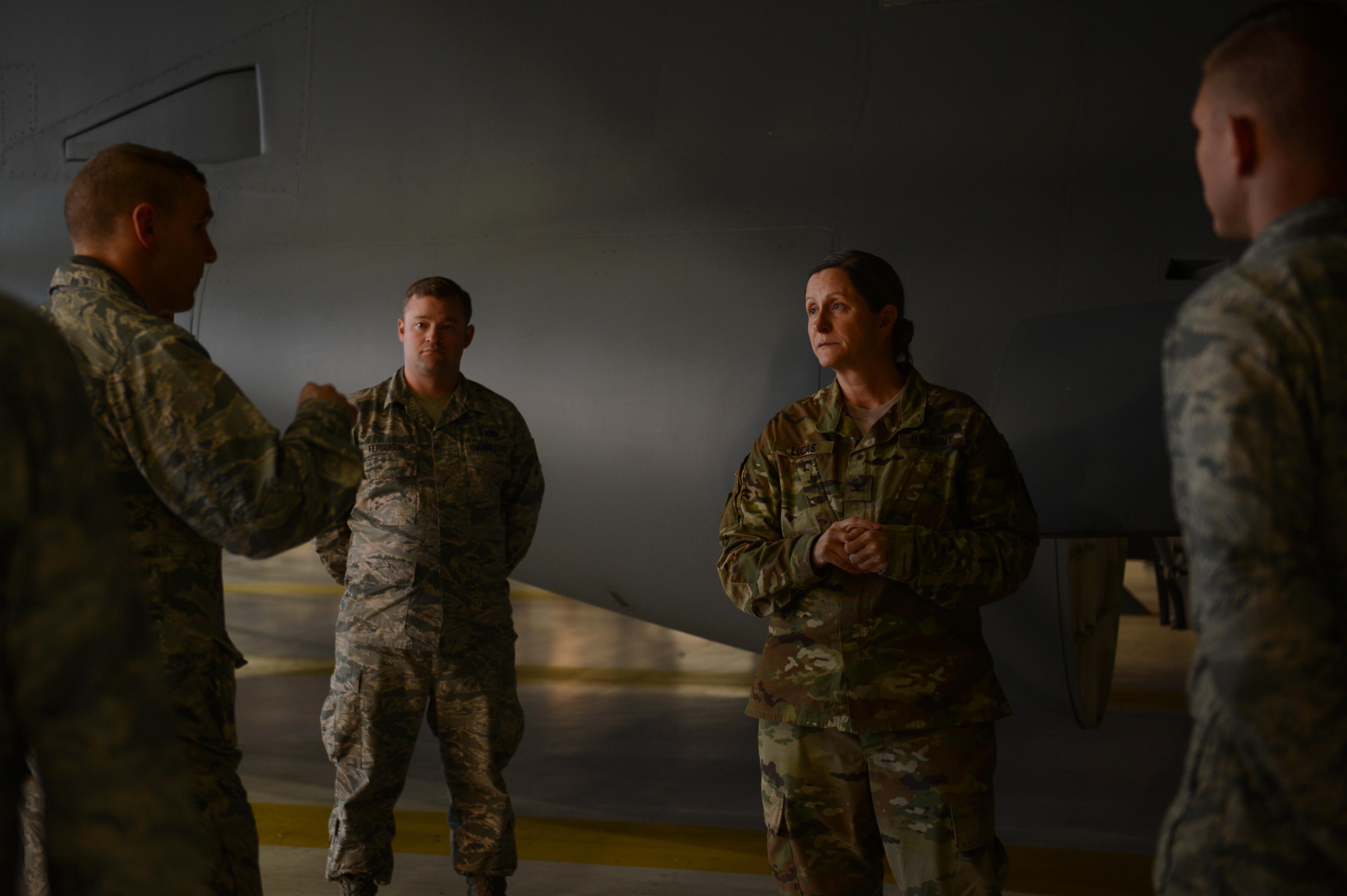 833rd aero squadron - Joint Base Garrison Commander Receives Immersion Tour
