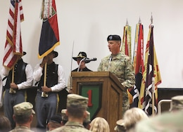 Maj. Gen. Joseph Martin, 1st Infantry Division and Fort Riley commanding general, welcomed Brig. Gen. Stephen Smith, 1st Inf. Div. deputy commanding general for support, and his family on Fort Riley Oct. 3 at a Victory with Honors ceremony.