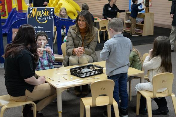 First Lady Melania Trump visits Joint Base Elmendorf ...