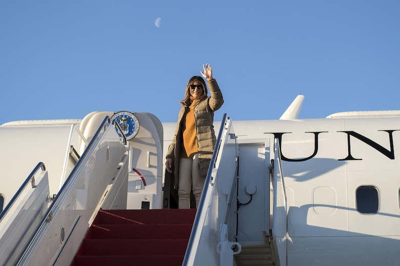 First Lady Melania Trump visits Joint Base Elmendorf ...
