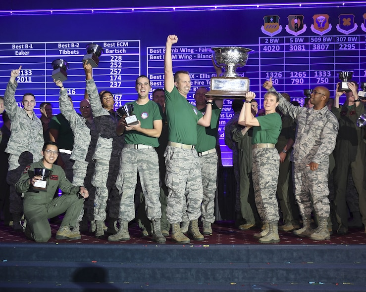 The 2nd Bomb Wing at Barksdale Air Force Base, Louisiana, took home the FairchildTrophy for Best Bomb Wing in Global Strike Command during the 2017 Global Strike Challenge. Trophies were awarded during a scoreposting event Nov. 15 at Barksdale AFB, Louisiana.