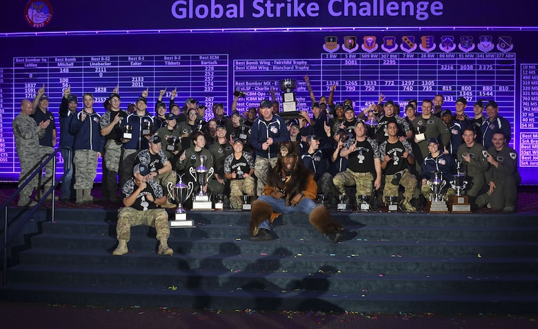 The 341st Missile Wing at Malmstrom Air Force Base, Montana, took home the Blanchard Trophy for Best ICBM Wing in Global Strike Command during the 2017 Global Strike Challenge. Trophies were awarded during a scoreposting event Nov. 15 at Barksdale AFB, Louisiana.