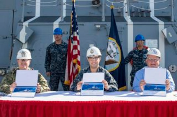Ingalls Shipbuilding delivered the guided missile destroyer Ralph Johnson (DDG 114) to the U.S. Navy