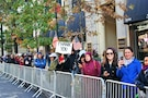 "Thousands of spectators line the streets, waving flags and ""thank you"" signs, to show their appreciation for the nation's military veterans at the New York City Veterans Day Parade Nov. 11, 2017."