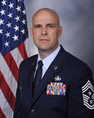 Chief Master Sgt. David M. Abell, official photo, U.S. Air Force