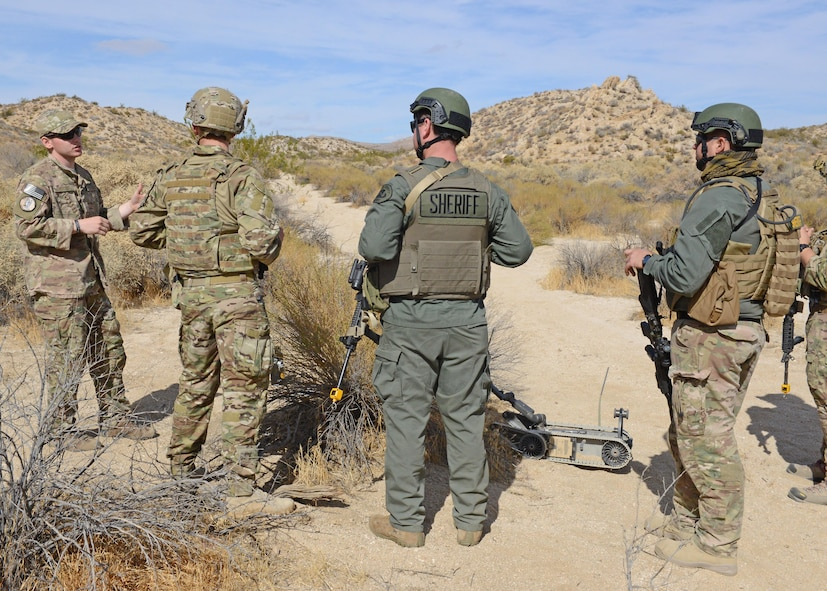 Edwards EOD hosts realistic training for fellow bomb squad members