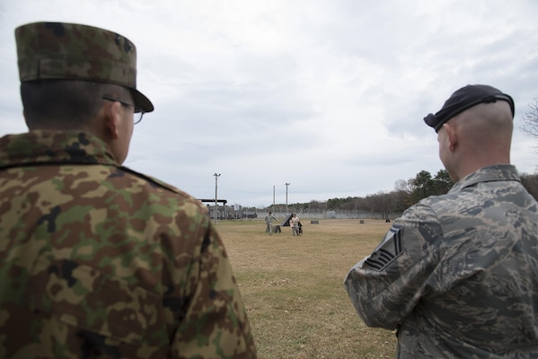 Misawa Airmen host JGSDF soldiers during bilateral exchange