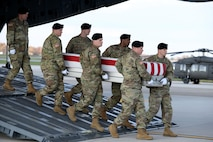 Dignified transfer for Army Sgt. 1st Class Hughton O. Brown