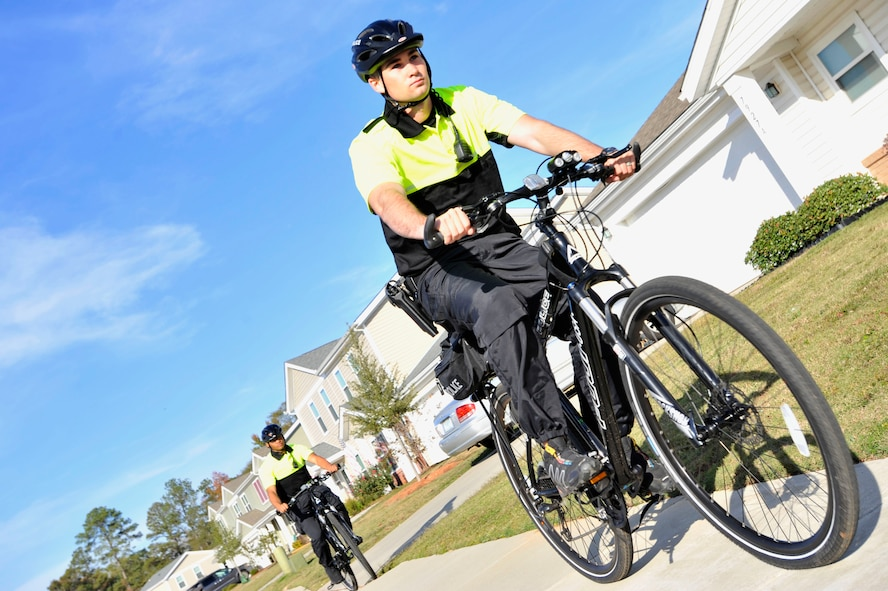 Every bike patrol shift consists of two patrolmen who watch over base housing every day from 6 a.m. until 8 p.m.