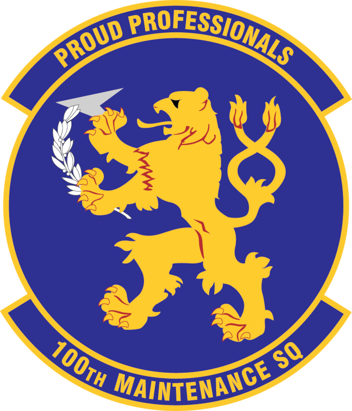 100th Maintenance Squadron patch as of November 2017