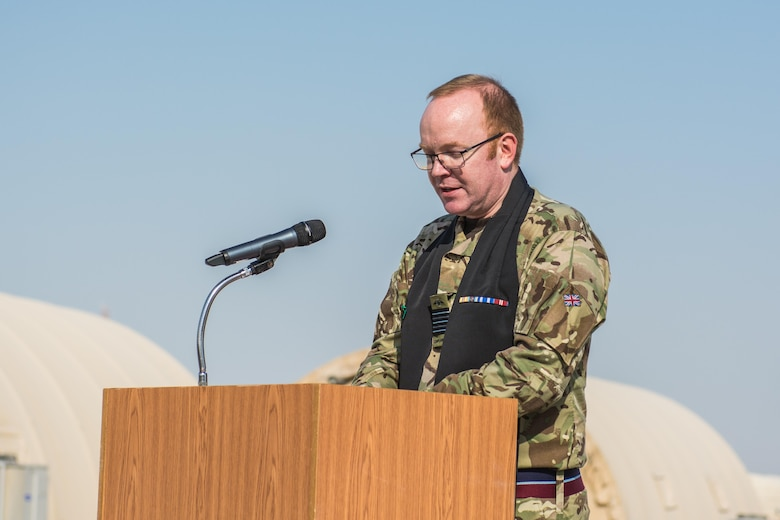 The Royal Air Force observes Remembrance Day at Al Udeid