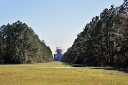 An upcoming Corps project at Stennis Space Center is to widen a viewing corridor, currently 100-feet-wide, to 800-feet-wide so the public can get a better view of multiple rocket engine cluster testing.