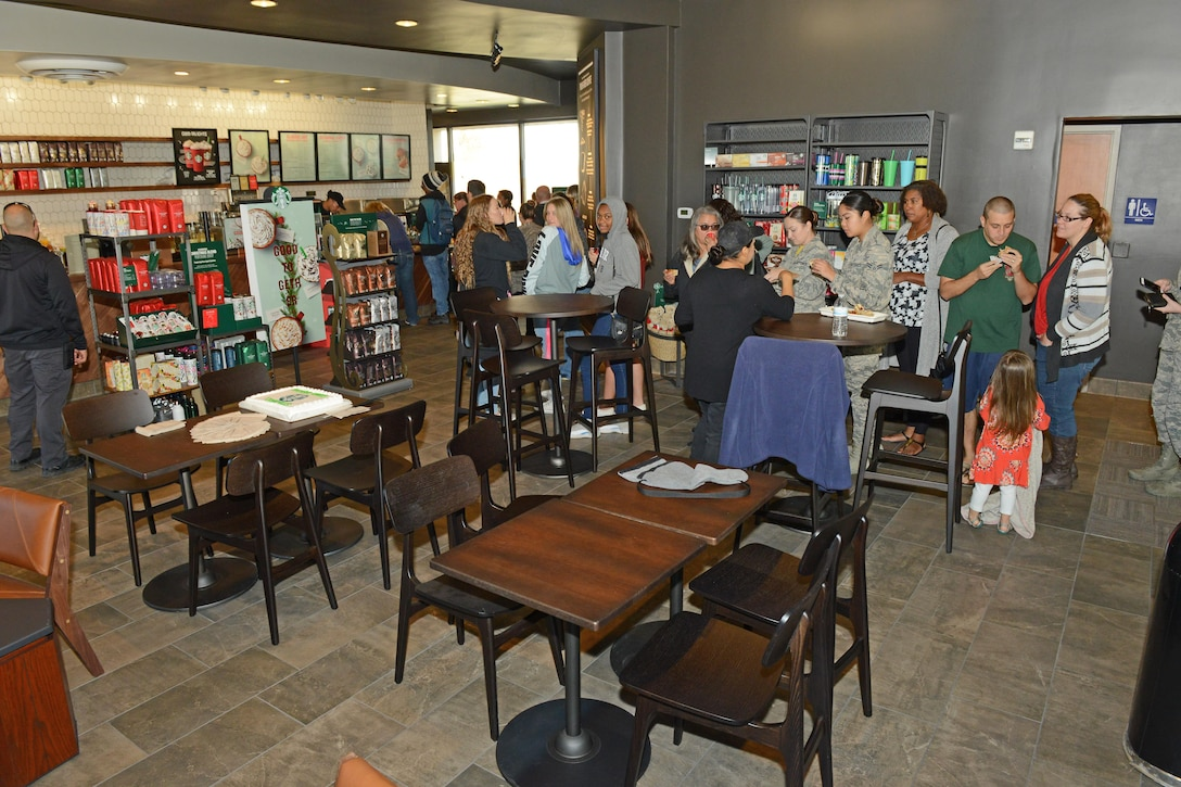 The newly renovated Starbucks also received a new oven to serve hot food. (U.S. Air Force photo by Kenji Thuloweit)