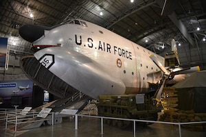 Douglas C-124C Globemaster II on display in the Korean War Gallery at the National Museum of the U.S. Air Force