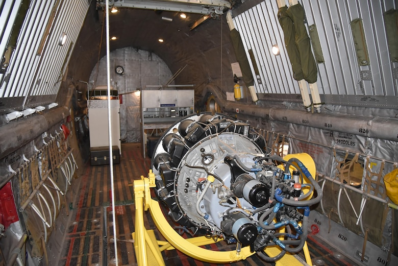 Interior view of the Douglas C-124C Globemaster II on display in the Korean War Gallery at the National Museum of the U.S. Air Force