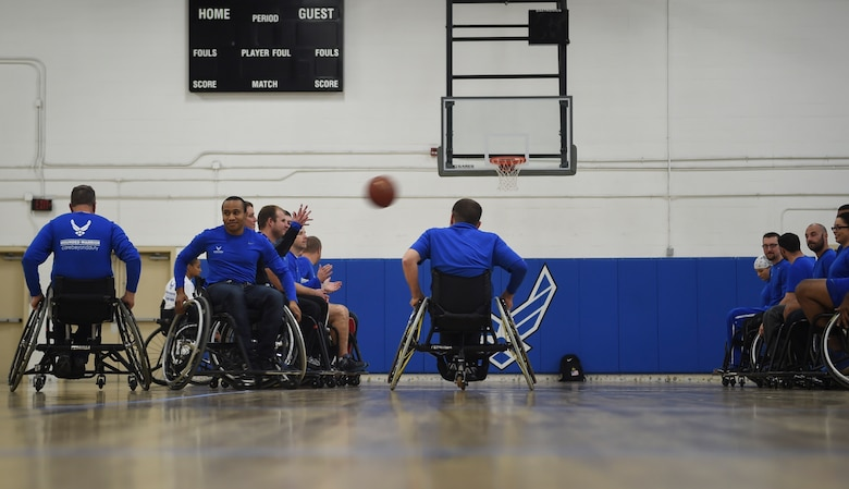 Warriors play wheelchair basketball