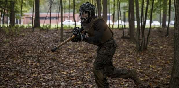 U.S. Marines with the Martial Arts Center of Excellence conduct training on Marine Corps Base Quantico, Va., Oct. 10, 2017
