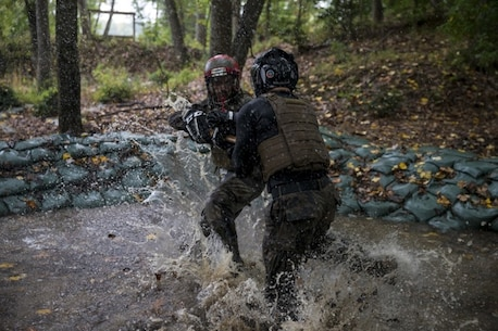 U.S. Marines with the Martial Arts Center of Excellence conduct training on Marine Corps Base Quantico, Va., Oct. 10, 2017.