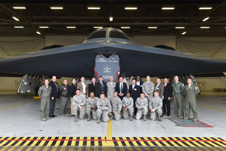 Members of a French Delegation visited Whiteman Air Force (AFB), Mo., Nov. 14, 2017