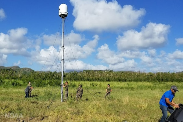 Two temporary DoD radars stand watch over Puerto Rico and the U.S. Virgin Islands, improving public safety as the islands continue to recover from Hurricane Maria. NOAA photo
