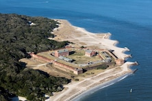 A view of Fort Clinch at Fernandina Beach.