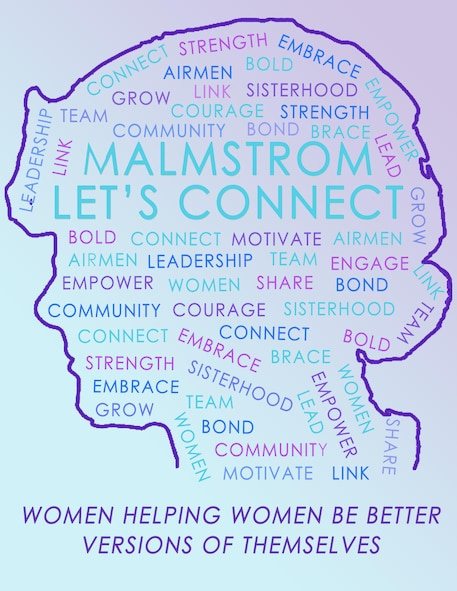"Malmstrom's ""Let's Connect"" graphic. (U.S. Air Force graphic by 2nd Lt. Megan Duenas)"