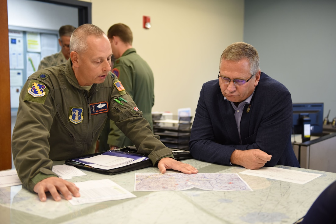 Congressman Mike Bost visits the 126th Air Refueling Wing