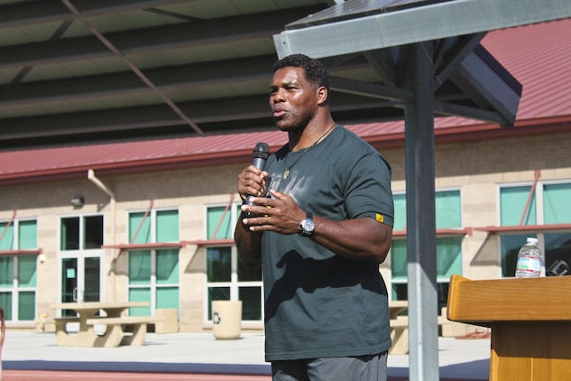 The Wounded Warrior Battalion, with Marine Corps Installations - West, Camp Pendleton, California, hosted guest speaker Herschel Walker, a Heisman Trophy winner and advocate for mental health issues Nov. 3, 2017. Walker, a native of Wrightsville, Georgia, began his career playing college football and was later diagnosed with dissociative identity disorder.
