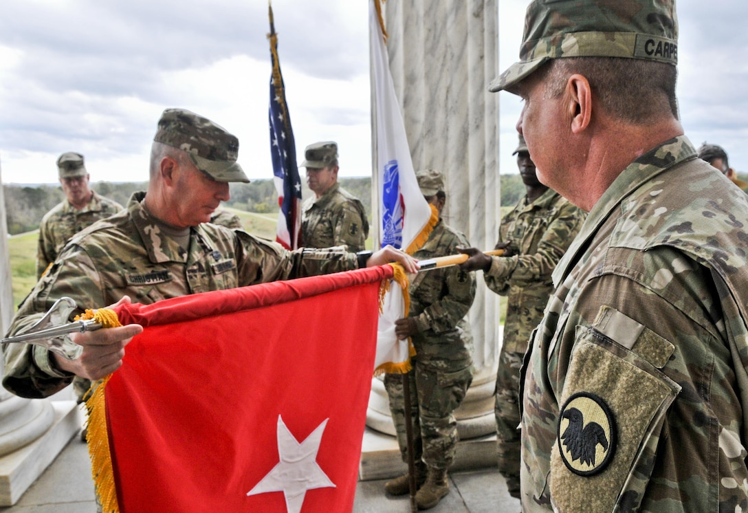 Major general takes command