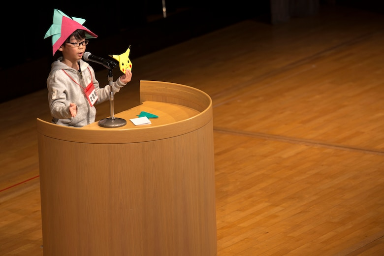 Judges evaluate each contestant's speech and stage presence during the 56th Annual Japanese and English Speech Contest at Sinfonia Iwakuni Concert Hall in Iwakuni City, Japan, Nov. 19, 2017.  The contest was hosted by the Japanese American Society to help contestants understand and appreciate each other's language and culture, strengthening the Japanese and American friendship.