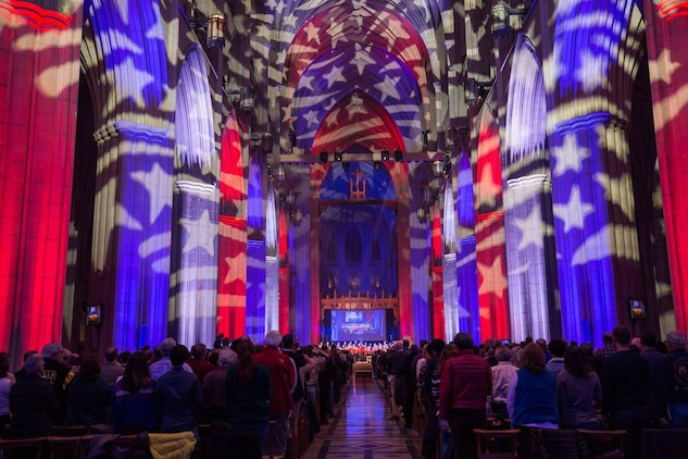 On Saturday, Nov. 11, the Marine Chamber Orchestra performed a Veterans Day Concert at the Washington National Cathedral, along with the Cathedral Choir, in northwest Washington, D.C. (U.S. Marine Corps photo by Gunnery Sgt. Brian Rust/released)
