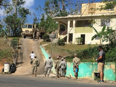 Army Reserve medical unit from Puerto Rico supports Hurricane Maria recovery operations