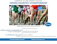 Air Force Sports is accepting applications for Airmen to compete in the 2018 Armed Forces Cross Country Championships to be held in Tallahassee, Florida, Feb. 1 - 4, 2018.