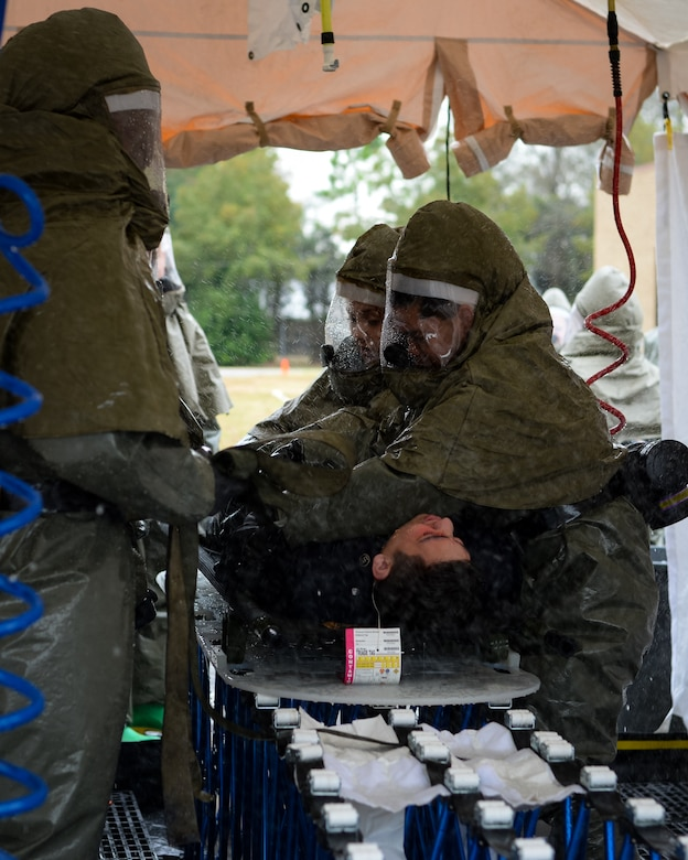 The exercise tested the 2nd Medical Group's response to victims of a chemical, biological, radiological or nuclear attack.