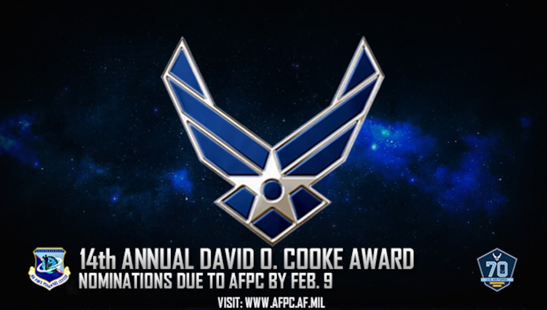 14th annual David O. Cooke award; nominations due to AFPC by Feb. 9